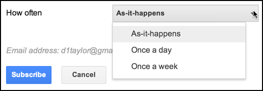 how frequently to mail trend updates