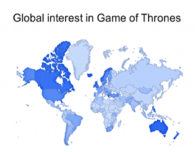 subscribe via email to google trends: global interest in game of thrones
