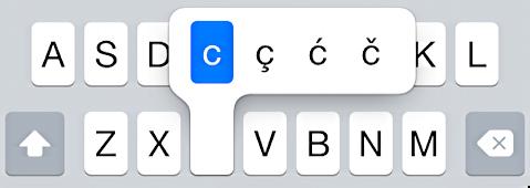 letter 'c' variants cedille