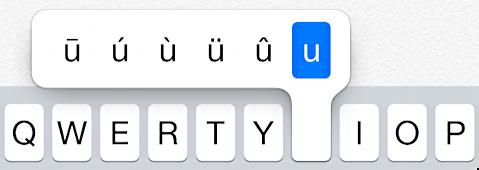 variations on letter 'u'