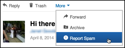 report linkedin email as spam?