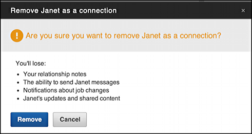 are you sure you want to unfriend remove connection linked in