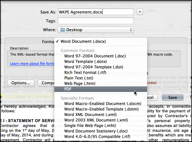 Easiest way to Save a Word Doc as PDF on a Mac? - Ask Dave