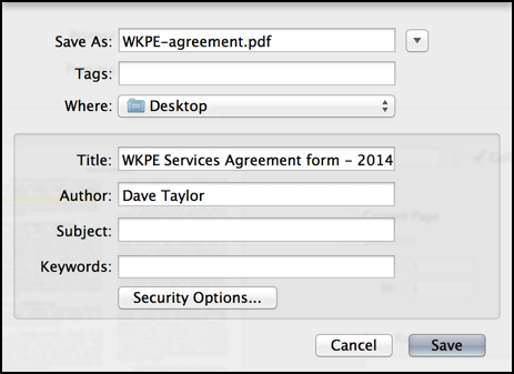 save as pdf dialog box mac os