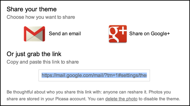 three ways to share your gmail theme