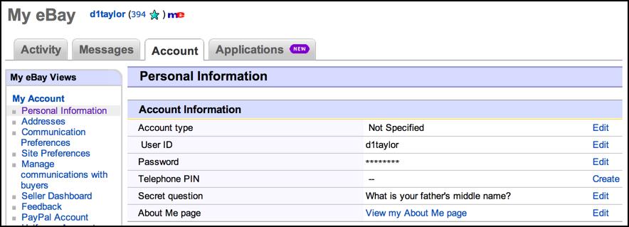 ebay information