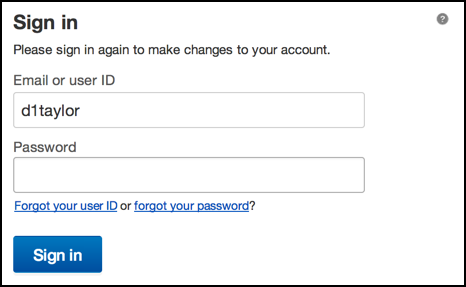 re-enter your ebay password for seurity
