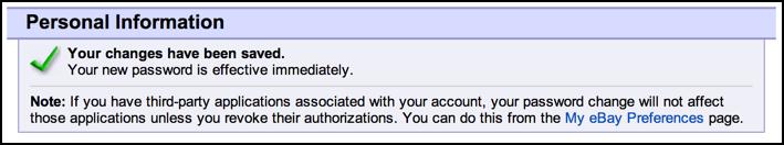 my ebay login has changed
