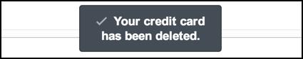your credit debit card has been deleted amazon
