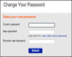 update change ebay password