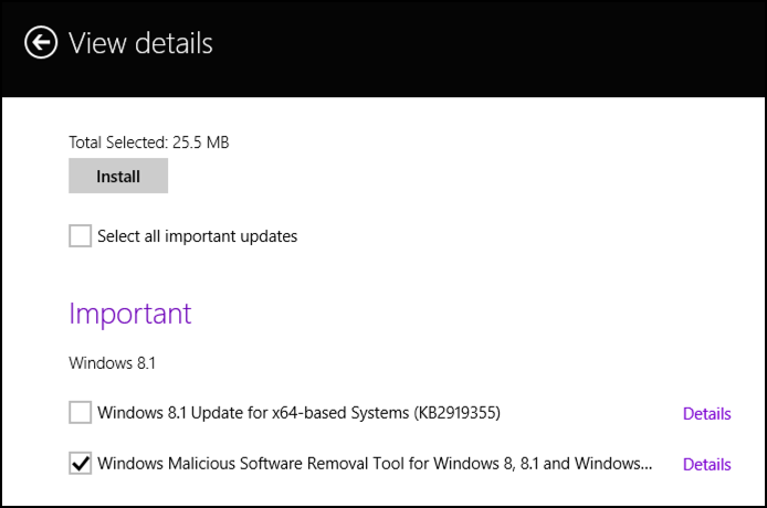 make win8 update the system windows update