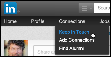linkedin email to filtered contacts, menu