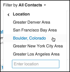filter by geographic location