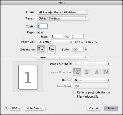 create super long pdf paper page size for pdf, printer dialog
