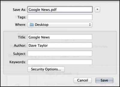 save as super long page paper pdf