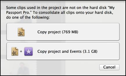 copy imovie project backup external drive