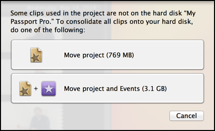 move project event imovie 11 backup disk drive