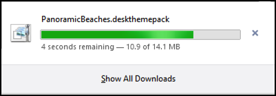 a quick, short download in windows 8.1