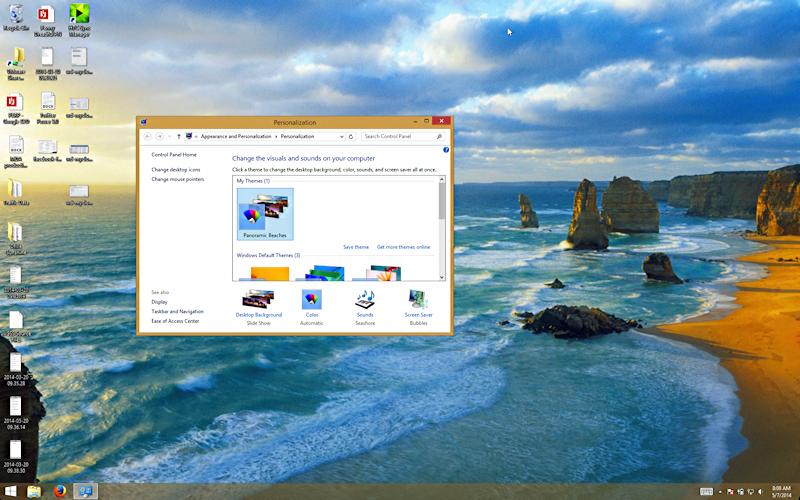windows 8.1 beaches wallpaper desktop theme