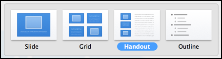output style for keynote handouts