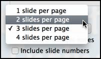 slides per page in keynote pdf output