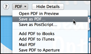 save as pdf from the print dialog