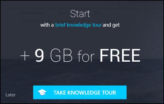 do the tour, get 9gb of extra zeospace free