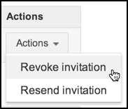 revoke ad words invitation
