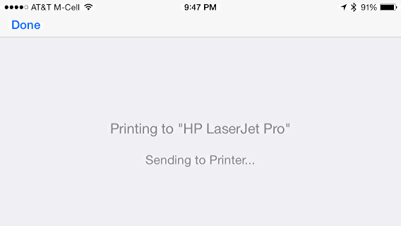 iphone printing to hp airprint printer