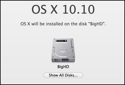 mac os x 10.10 yosemite installer