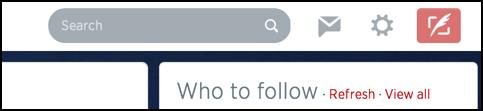 top navbar of twitter.com