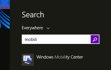 windows 8 search feature from charms bar