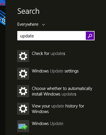 update win8 windows 8 - search