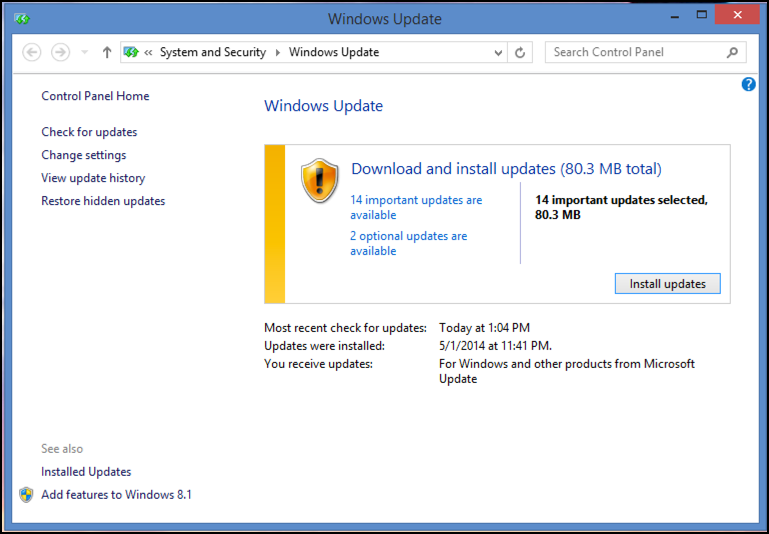 Updating laptop to windows 8 1