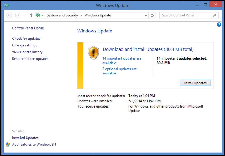 pending updates to windows pc system laptop