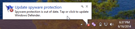 windows defender needs update out of date