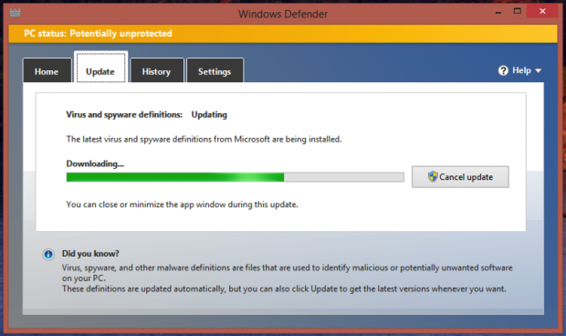 Free download program installing windows defender for Window defender update
