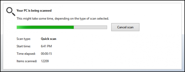 win8 windows 8 windows defender, quick scan