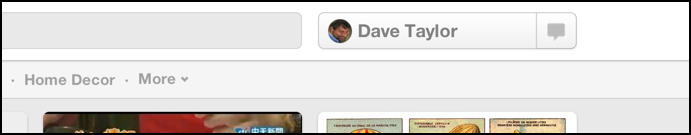 new pinterest ui design without upload button