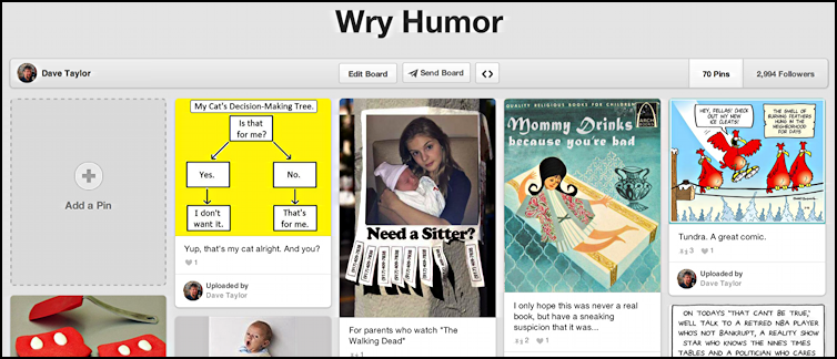 dave's wry humor pinterest pinboard