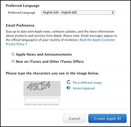 more info requested for apple id