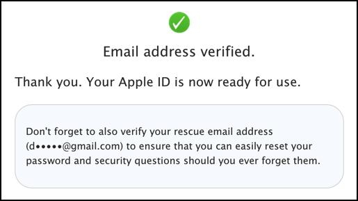 apple id appleid created and ready to use