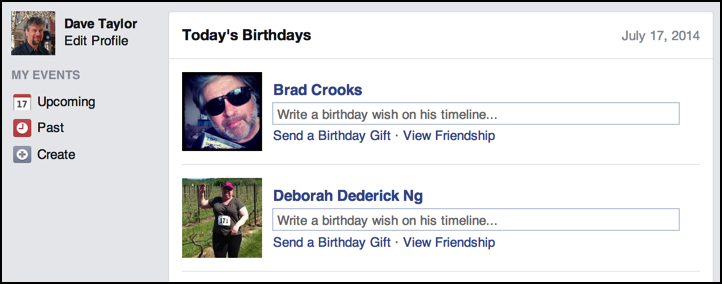wish your friends happy birthday on facebook
