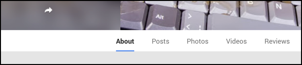 about tab on google plus