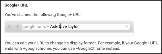 fixing capitalization in personalized google plus url