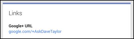 Google Plus URL fixed