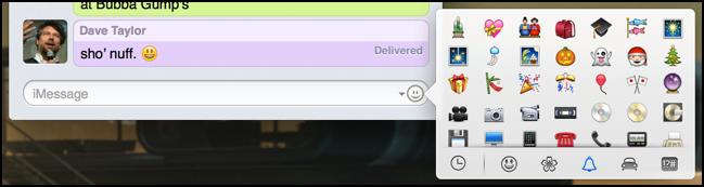 emoji menu in imessage messages app