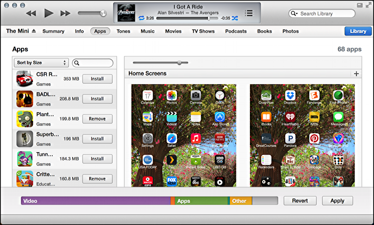 ipad apps tab shown in itunes for mac