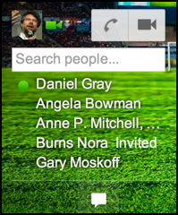 google gmail chat shows up, with video chat and phone call options