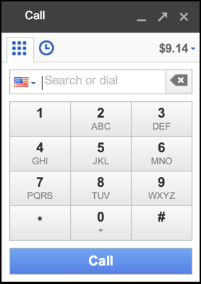 phone dialer from gmail